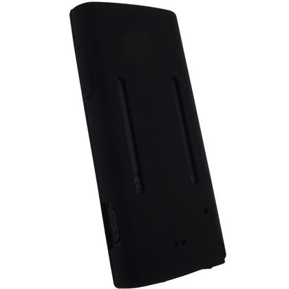 iGadgitz Black Silicone Skin Case Cover & Sports Armband for Sony Walkman NWZ-E450 Series + Screen Protector Thumbnail 3