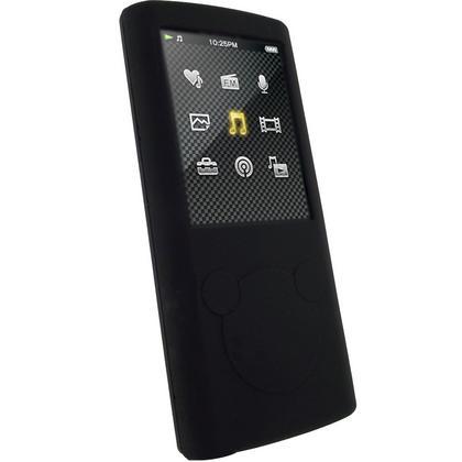iGadgitz Black Silicone Skin Case Cover & Sports Armband for Sony Walkman NWZ-E450 Series + Screen Protector Thumbnail 2