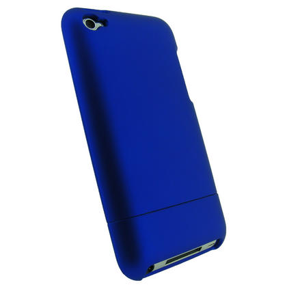 iGadgitz Blue Rubber Coated Hard Case Cover for Apple iPod Touch 4th Generation 4G 8gb, 32gb, 64gb + Screen Protector Thumbnail 3