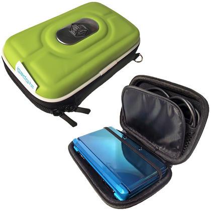 iGadgitz Green EVA Hard Case Cover for Nintendo 3DS + set of 2 Screen Protectors Thumbnail 1