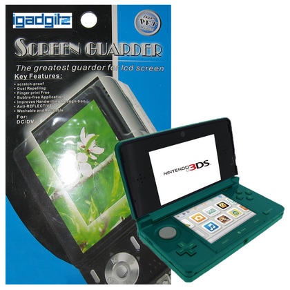 iGadgitz Pack of 2 sets of 2 Stick-on Anti-Reflective and Scratch Resistant Screen Protectors for Nintendo 3DS 2011 Thumbnail 1