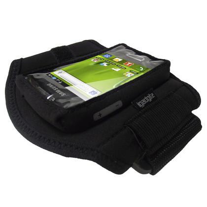 iGadgitz Black Water Resistant Neoprene Sports Armband for Samsung Galaxy Mini S5570 Thumbnail 3