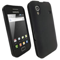 iGadgitz Black Gel Case for Samsung Galaxy Ace S5830 + Screen Protector