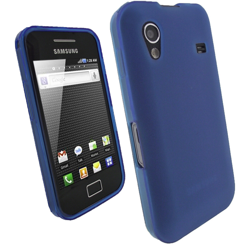 iGadgitz Blue Gel Case for Samsung Galaxy Ace S5830 + Screen Protector