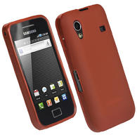 iGadgitz Red Gel Case for Samsung Galaxy Ace S5830 + Screen Protector