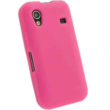 iGadgitz Pink Silicone Skin Case Cover for Samsung Galaxy Ace S5830 Android Smartphone Mobile Phone + Screen Protector Thumbnail 3