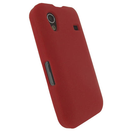 iGadgitz Red Silicone Skin Case Cover for Samsung Galaxy Ace S5830 Android Smartphone Mobile Phone + Screen Protector Thumbnail 3