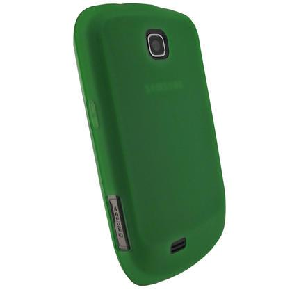 iGadgitz Green Gel Case for Samsung Galaxy Mini S5570 + Screen Protector Thumbnail 3