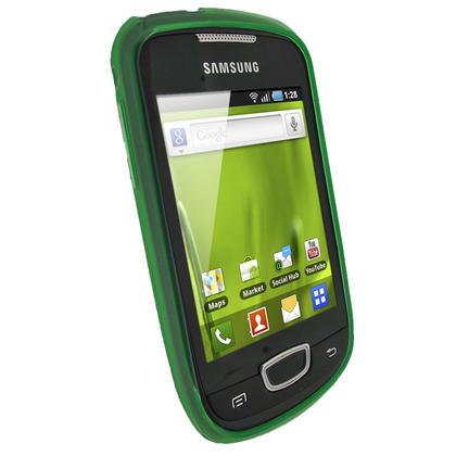 iGadgitz Green Gel Case for Samsung Galaxy Mini S5570 + Screen Protector Thumbnail 2