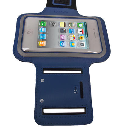 iGadgitz Blue Reflective Anti-Slip Neoprene Sports Gym Jogging Armband for Apple iPhone 4 HD & 4S 16GB, 32GB & 64GB Thumbnail 3