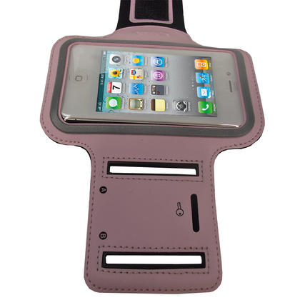 iGadgitz Pink Reflective Anti-Slip Neoprene Sports Gym Jogging Armband for Apple iPhone 4 HD & 4S 16GB, 32GB & 64GB Thumbnail 2