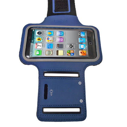 iGadgitz Blue Reflective Anti-Slip Sports Armband for Apple iPod Touch 2nd, 3rd & 4th Gen 8gb, 16gb, 32gb & 64gb Thumbnail 3