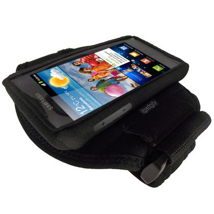 iGadgitz Black Water Resistant Neoprene Sports Armband for Samsung Galaxy S2 i9100 Thumbnail 3