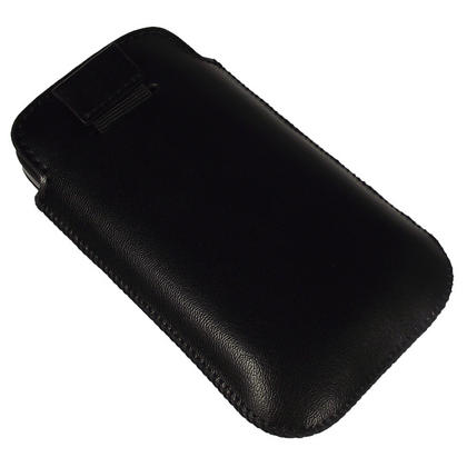 iGadgitz Black Genuine Leather Pouch Case Cover for HTC Desire S Android Smartphone Mobile Phone Thumbnail 3
