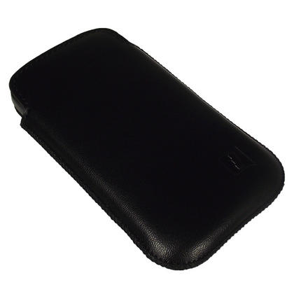 iGadgitz Black Genuine Leather Pouch Case Cover for HTC Desire S Android Smartphone Mobile Phone Thumbnail 2