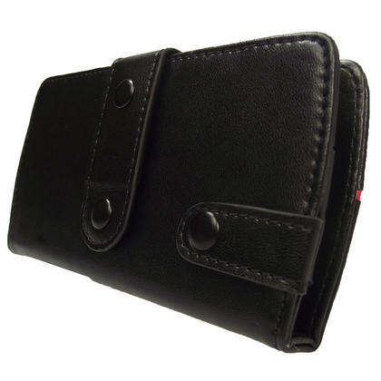 iGadgitz Black Genuine Leather Case Cover for Archos 43 Android Internet Tablet Thumbnail 3