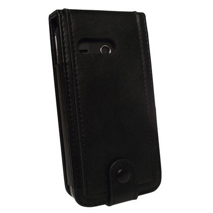 iGadgitz Black Genuine Leather Case Cover for Creative Zen Touch 2 Android MP3 Player Thumbnail 3