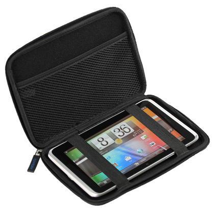 "iGadgitz Black EVA Hard Case for HTC Flyer 7"" Tablet, Archos 70 Internet Tablet 8gb & 250gb & Archos 7 Home Tablet 8gb Thumbnail 1"