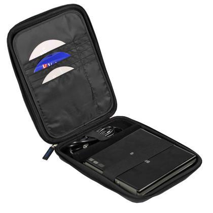 iGadgitz Black EVA Travel Hard Case Cover Sleeve for External DVD CD Blu-Ray Rewriter / Writer Thumbnail 2