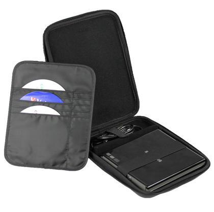 iGadgitz Black EVA Travel Hard Case Cover Sleeve for External DVD CD Blu-Ray Rewriter / Writer Thumbnail 3