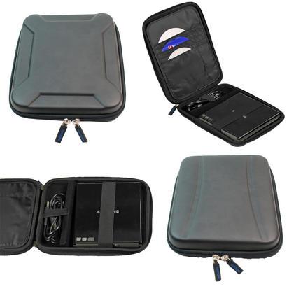 iGadgitz Black EVA Travel Hard Case Cover Sleeve for External DVD CD Blu-Ray Rewriter / Writer Thumbnail 1