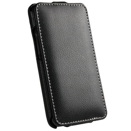 iGadgitz Black Genuine Leather Flip Case Cover Holder for Samsung i9100 Galaxy S2 Android Smartphone Mobile Phone Thumbnail 3