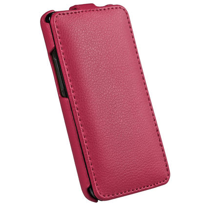 iGadgitz Pink Genuine Leather Flip Case Cover Holder for Samsung i9100 Galaxy S2 Android Smartphone Mobile Phone Thumbnail 3