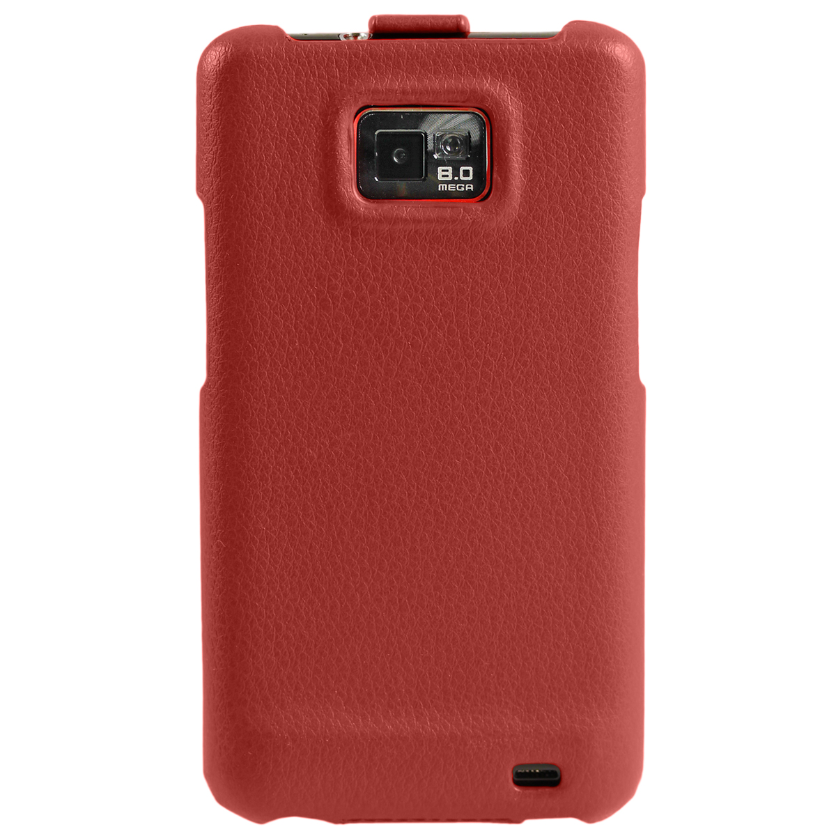 igadgitz red genuine leather flip case cover holder for