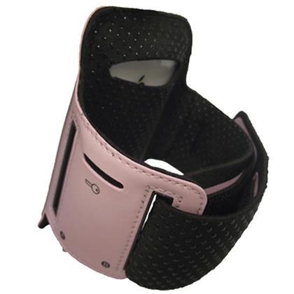 iGadgitz Pink Reflective Anti-Slip Neoprene Sports Gym Jogging Armband for Apple iPhone SE, 5S, 5, 5C Thumbnail 2