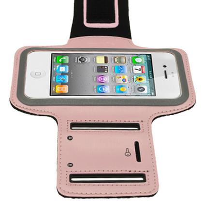 iGadgitz Pink Reflective Anti-Slip Neoprene Sports Gym Jogging Armband for Apple iPhone SE, 5S, 5, 5C Thumbnail 5