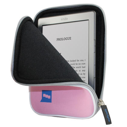 iGadgitz Pink Neoprene Sleeve Case Cover for Amazon Kindle 2014, Kindle Voyage, Amazon Kindle Paperwhite 2015 2014 2013 Thumbnail 1
