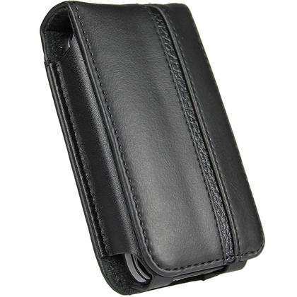 iGadgitz Black Genuine Leather Case Cover for Pure Move 2500 & 2520 Rechargeable Personal Digital DAB/FM Radio Thumbnail 2