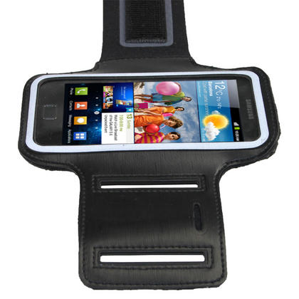 iGadgitz Black Reflective Anti-Slip Neoprene Sports Armband for Samsung Galaxy S2 i9100 Thumbnail 3