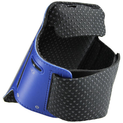 iGadgitz Blue Reflective Anti-Slip Neoprene Sports Armband for Samsung Galaxy S2 i9100 Thumbnail 2