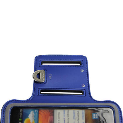 iGadgitz Blue Reflective Anti-Slip Neoprene Sports Armband for Samsung Galaxy S2 i9100 Thumbnail 4