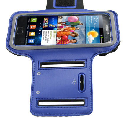 iGadgitz Blue Reflective Anti-Slip Neoprene Sports Armband for Samsung Galaxy S2 i9100 Thumbnail 3