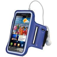 iGadgitz Blue Reflective Anti-Slip Neoprene Sports Armband for Samsung Galaxy S2 i9100