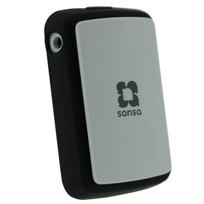 iGadgitz Black Silicone Skin Case Cover for SanDisk Sansa Clip Zip 4GB 8GB MP3 Player (Released Aug 2011) Thumbnail 2