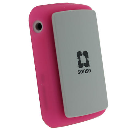 iGadgitz Pink Silicone Skin Case Cover for SanDisk Sansa Clip Zip 4GB 8GB MP3 Player (Released Aug 2011) Thumbnail 2