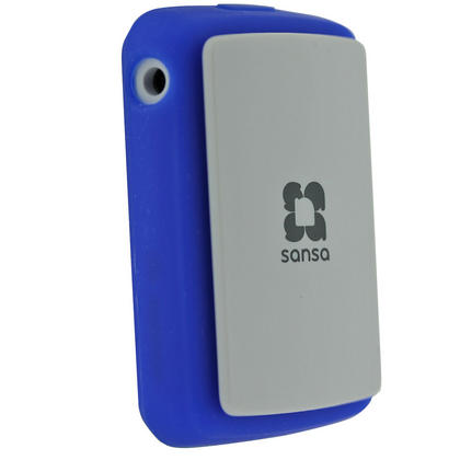 iGadgitz Blue Silicone Skin Case Cover for SanDisk Sansa Clip Zip 4GB 8GB MP3 Player (Released Aug 2011) Thumbnail 2