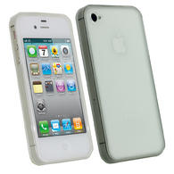 iGadgitz Clear Glossy Durable Crystal Gel Skin TPU Case Cover for Apple iPhone 4S 16GB 32GB 64GB + Screen Protector