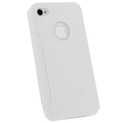 iGadgitz Dual Tone White Durable Crystal Gel Skin Case Cover for Apple iPhone 4 & 4S 16GB 32GB 64GB + Screen Protector Thumbnail 3