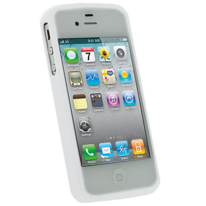 iGadgitz Dual Tone White Durable Crystal Gel Skin Case Cover for Apple iPhone 4 & 4S 16GB 32GB 64GB + Screen Protector Thumbnail 2