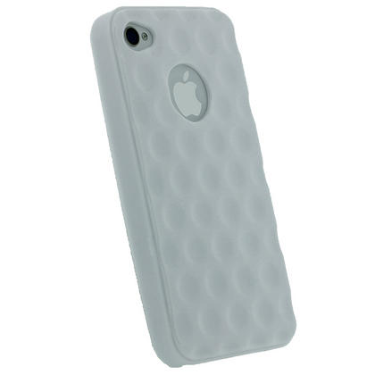 iGadgitz Bubble White 'Golf Ball' Gel Case for Apple iPhone 4S 16GB 32GB 64GB + Screen Protector Thumbnail 3