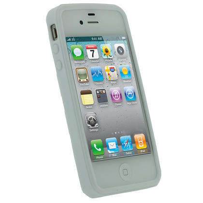 iGadgitz Bubble White 'Golf Ball' Gel Case for Apple iPhone 4S 16GB 32GB 64GB + Screen Protector Thumbnail 2