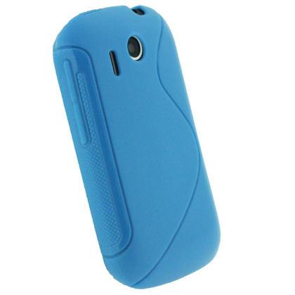 iGadgitz Dual Tone Blue Gel Case for HTC Explorer A310e + Screen Protector Thumbnail 3