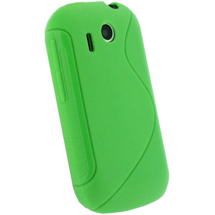 iGadgitz Dual Tone Green Gel Case for HTC Explorer A310e + Screen Protector Thumbnail 3