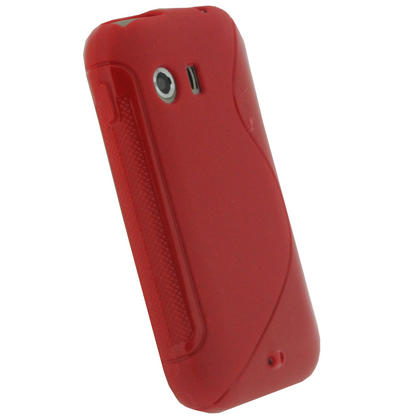 iGadgitz Dual Tone Red Gel Case for Samsung Galaxy Y S5360 + Screen Protector Thumbnail 3