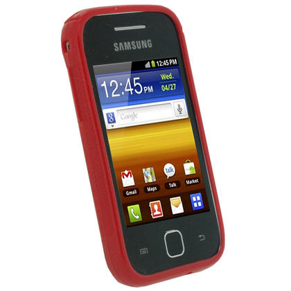 iGadgitz Dual Tone Red Gel Case for Samsung Galaxy Y S5360 + Screen Protector Thumbnail 2
