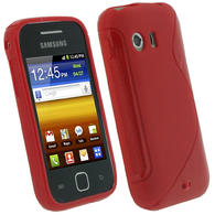 iGadgitz Dual Tone Red Gel Case for Samsung Galaxy Y S5360 + Screen Protector